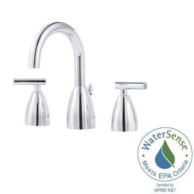 Contempra 8 in. Widespread 2-Handle Bathroom Faucet in Polished Chrome