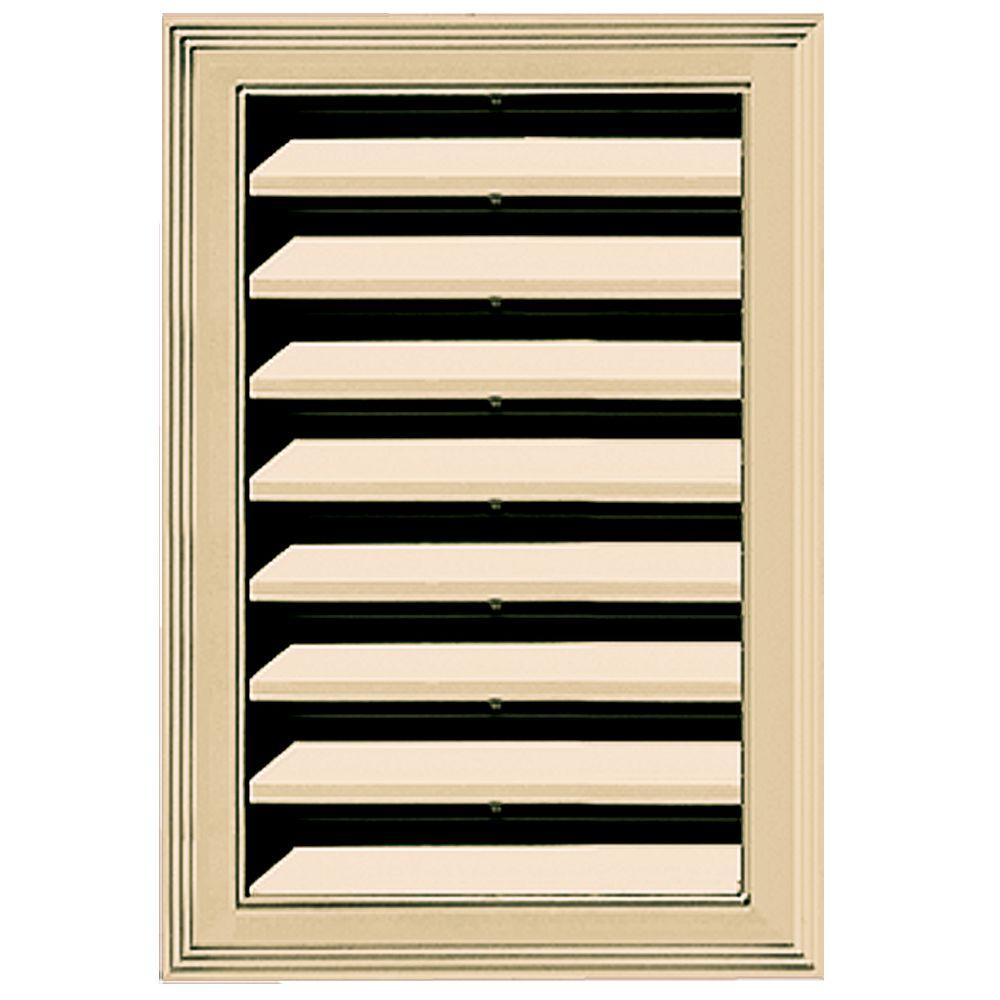 Builders Edge 12 in. x 18 in. Replacement Gable Vent #012 Dark Almond
