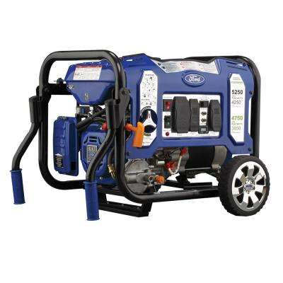 5,250/4,250-Watt Dual Fuel Gasoline/Propane Powered Electric/Recoil Start Portable Generator with 224 cc Ducar Engine