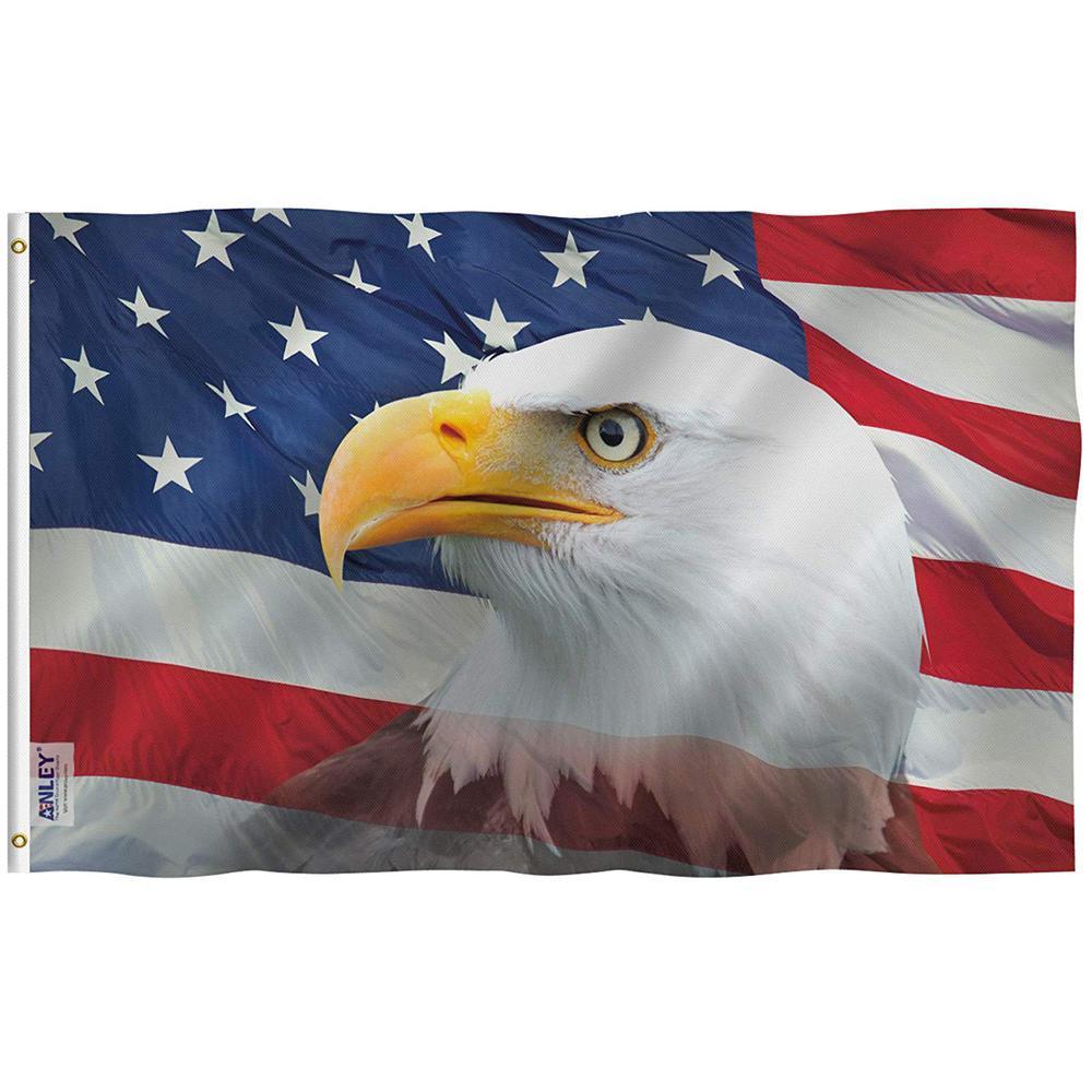 American Flying Eagle Flag 5 x 3 Ft flag