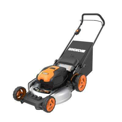 40-Volt Lithium-Ion Battery 20 in. Walk Behind Push Mower with 5.0 Ah Charger, Mulching and Side Discharge Capabilities