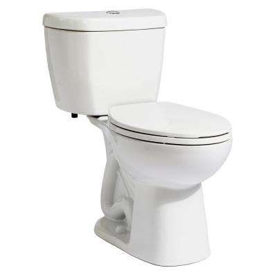 2-Piece Stealth 0.8 GPF Ultra-High-Efficiency Single Flush Elongated Toilet in White, Seat Included (9-Pack)