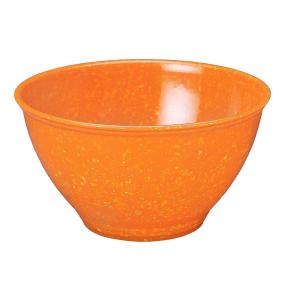 Garbage Bowl with Rubber Base in Orange