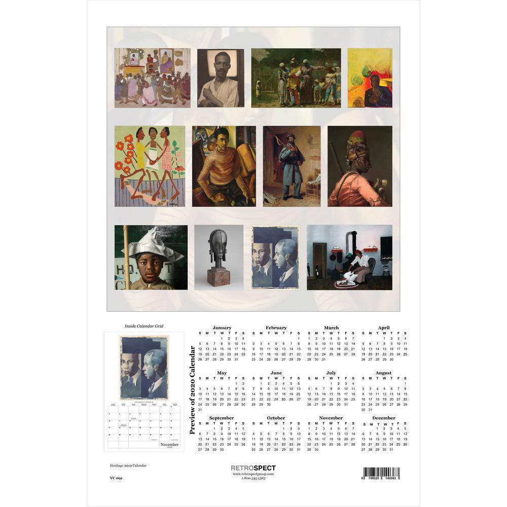 19 in. H x 12.5 in. W Heritage - 2019 Calendar