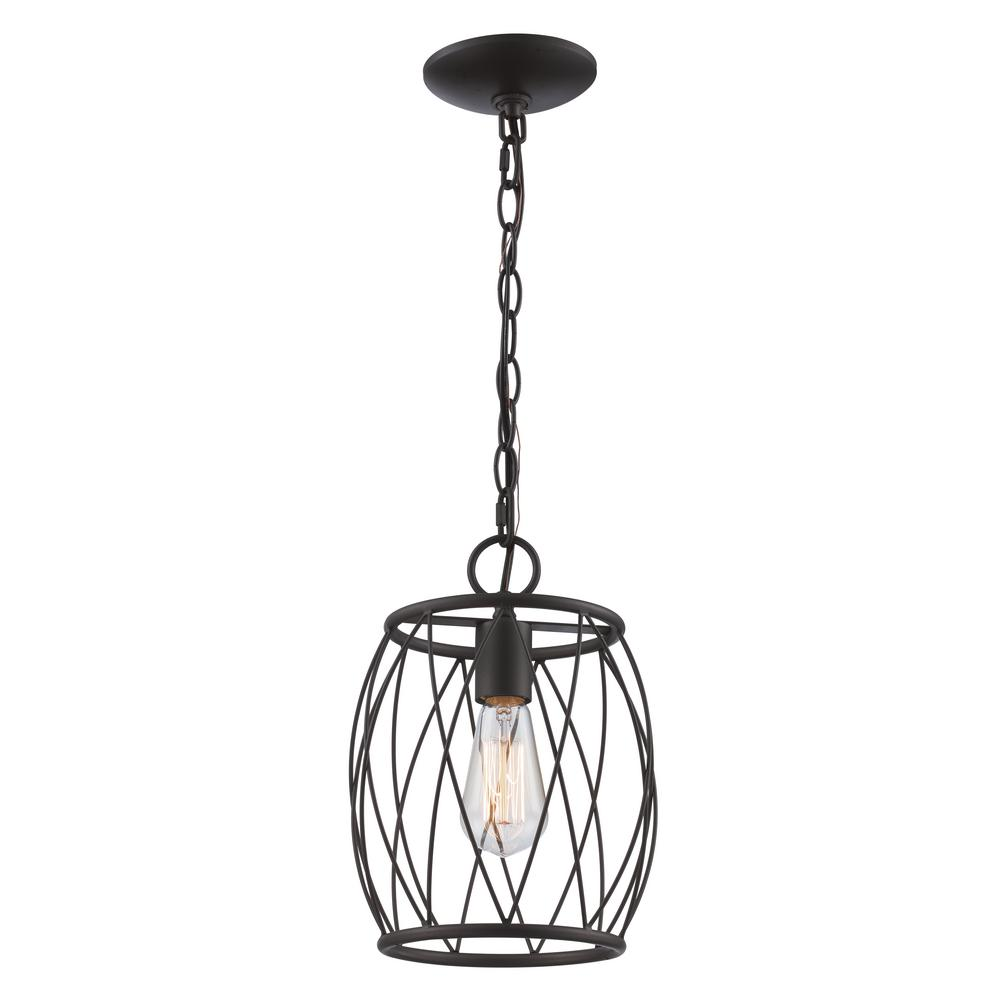 Bel Air Lighting Rhythm 1-Light Oil Rubbed Bronze Pendant with Wire ...