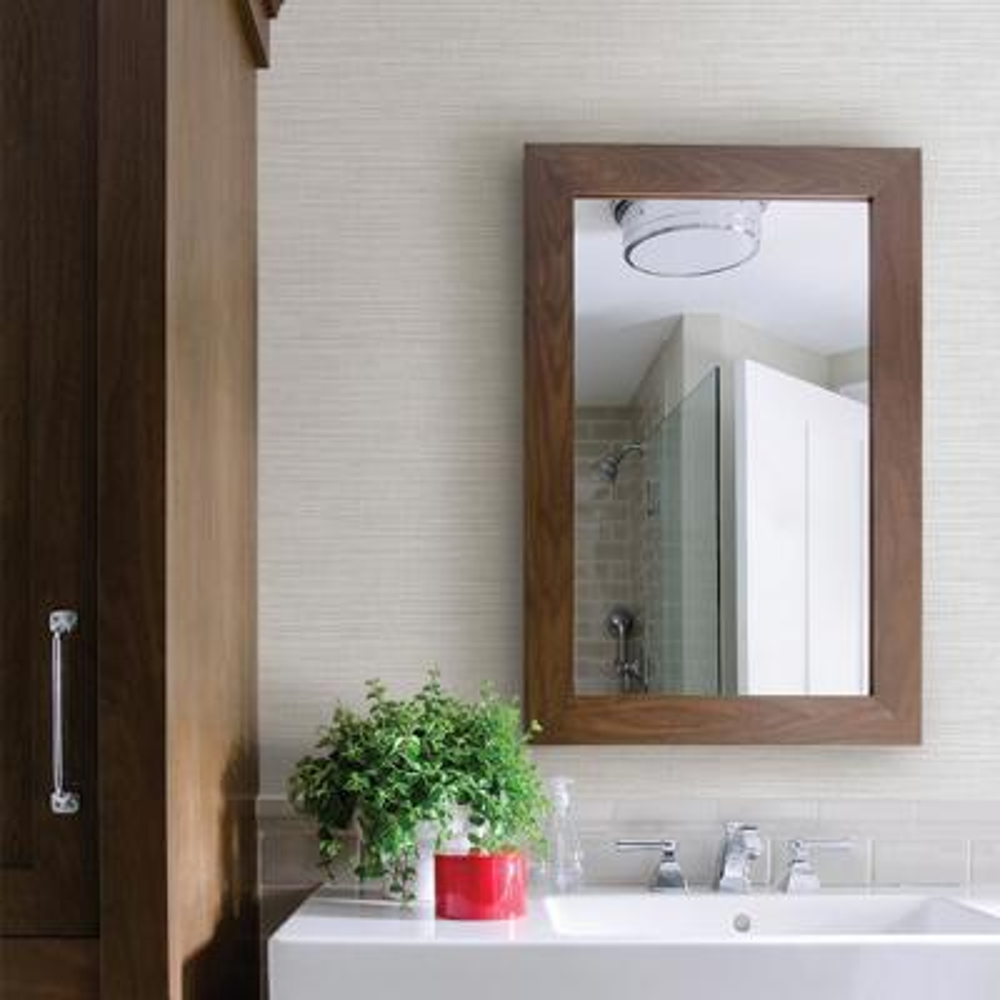 Zora Off-White Linen Texture Wallpaper