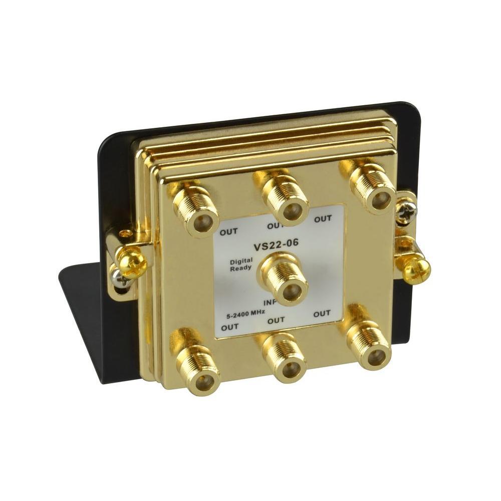 6-Way 2.4 GHz Video Splitter