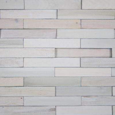 Take Home Sample - Deco Planks White Washed Solid Hardwood Wall Planks - 5 in. x 7 in.
