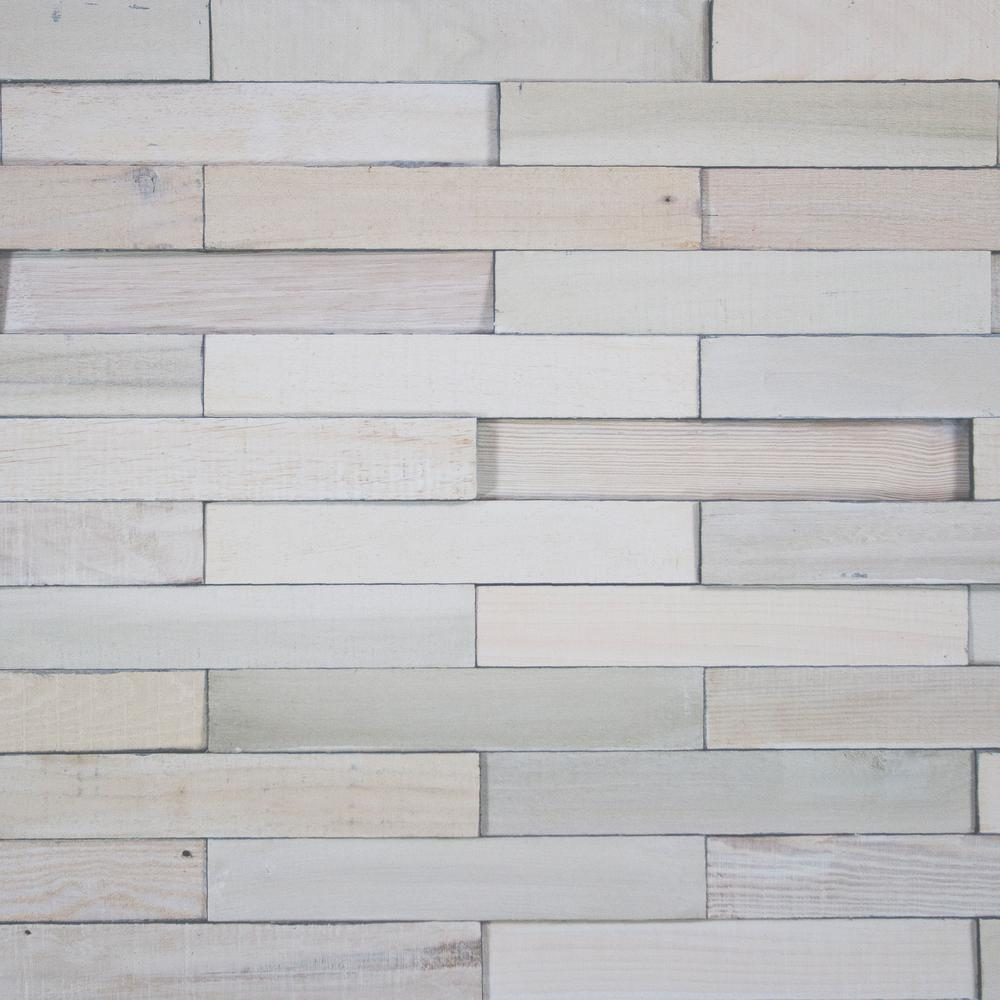 Wood Wall Planks: Deco Planks White Washed Solid