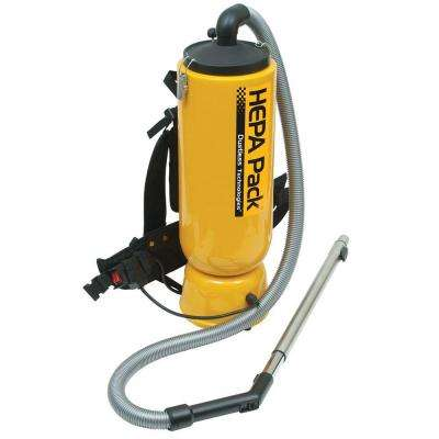 HEPA Pack Backpack Vacuum Cleaner for Janitorial and Construction Applications