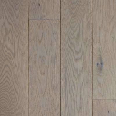Take Home Sample - Castlebury Stonington Brushed White Engineered Hardwood Flooring - 5 in. x 7 in.