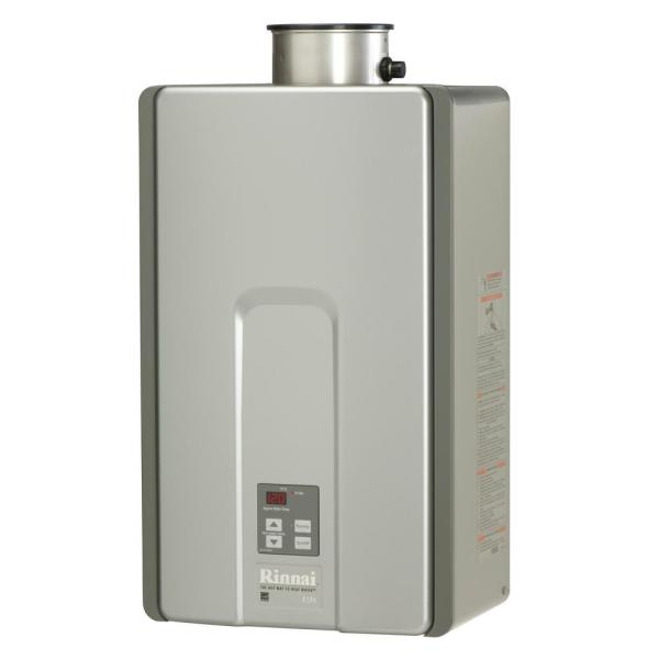 Rinnai High Efficiency Plus 9.8 GPM Residential 199,000 BTU/h 58.3 kWh Propane Interior Tankless Water Heater