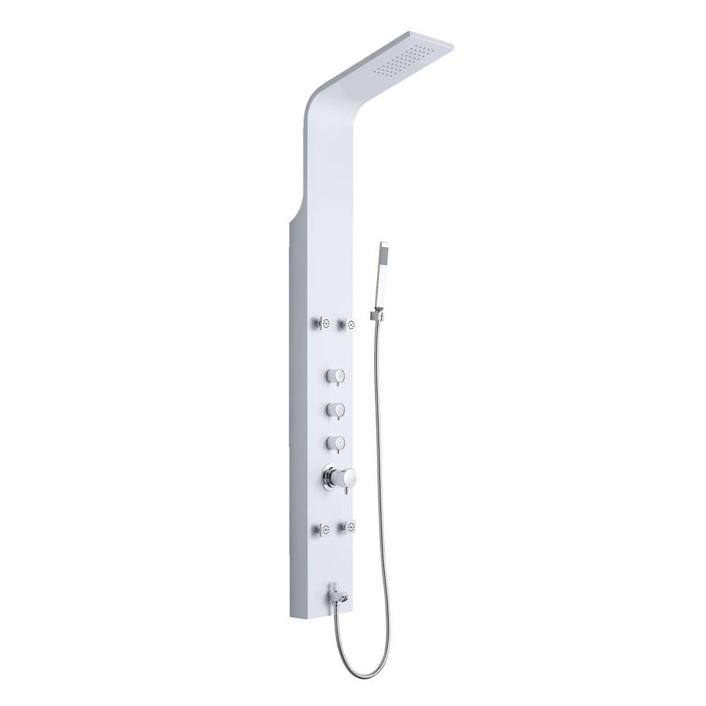 OVE Decors 4-Jet Shower Tower System in White-OSC-23 - The Home Depot