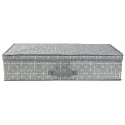 Diamond Collection 28 in. x 6 in. Grey Under-The-Bed Storage Box