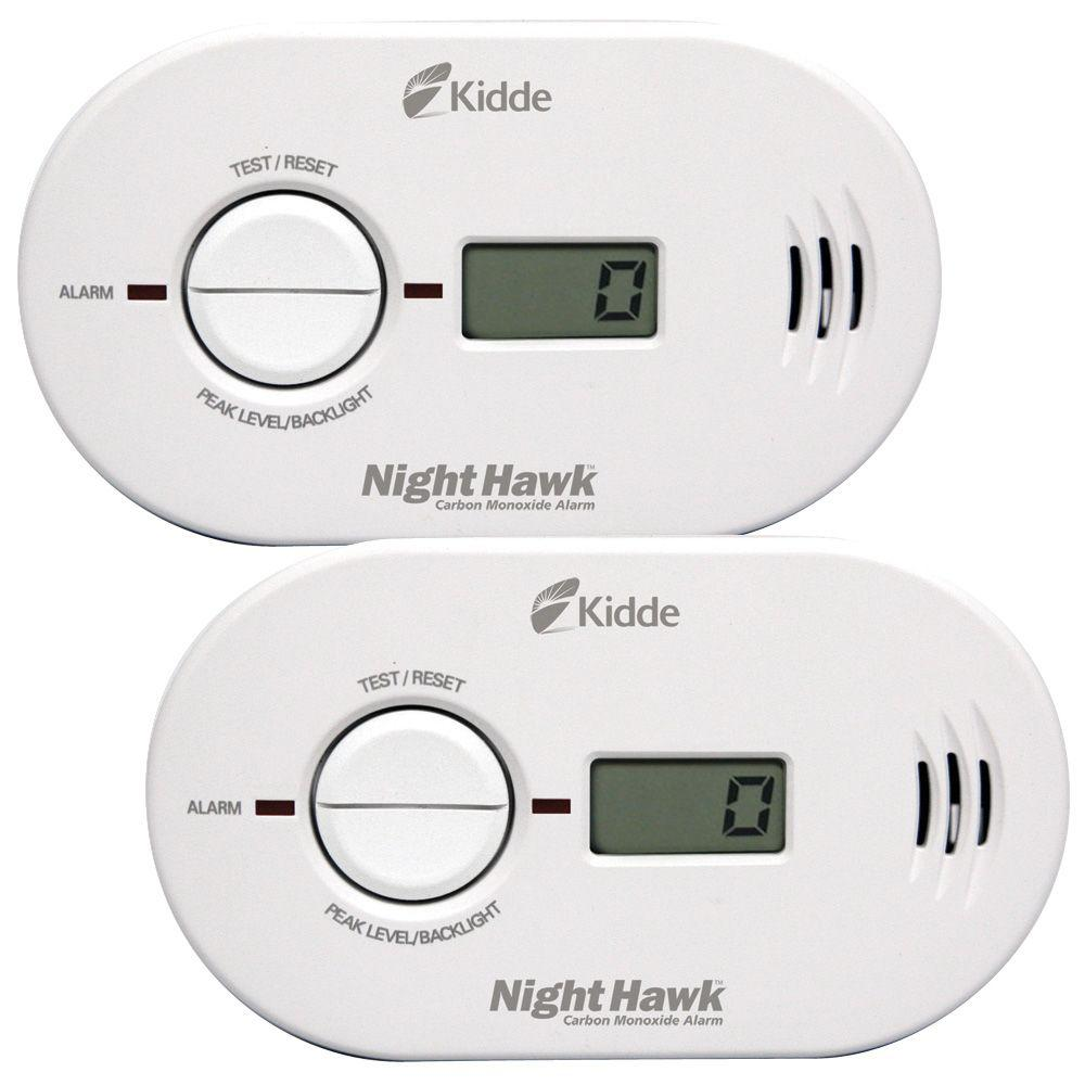 Kidde Nighthawk Battery Operated Carbon Monoxide Detector with Digital Display (2-pack)