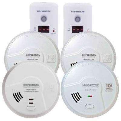 Battery Operated Combination and Smoke Alarm Apartment/Condo Bundle (6-Pack)