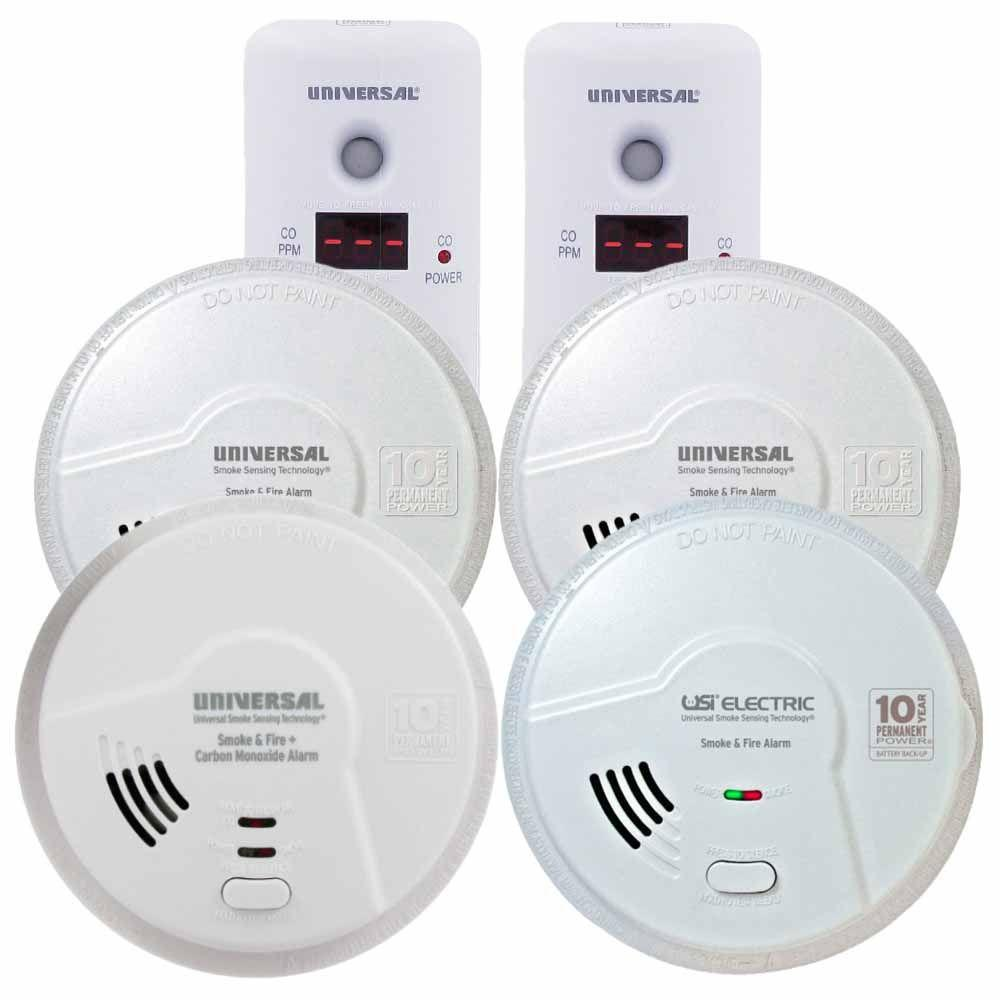 10 Year Battery Smoke Detectors Fire Safety The Home Depot How To Wiring Burglar Alarm System Technology Operated Combination And Apartment Condo Bundle 6 Pack