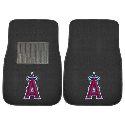 MLB - Los Angeles Angels 17 in. x 25.5 in. 2-Piece Set of Embroidered Car Mat