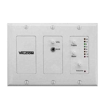 In-Wall Audio Mixer - White