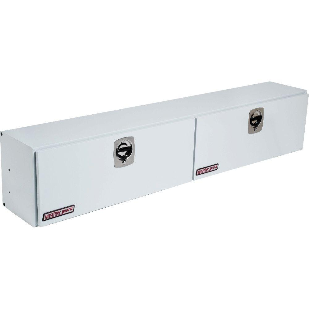 96.25 in. White Steel Full Size Top Mount Truck Tool Box