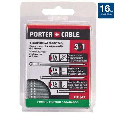 16-Gauge Finish Nail Project Pack (900 per Box)