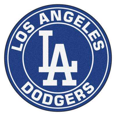 MLB Los Angeles Dodgers Navy 2 ft. x 2 ft. Round Area Rug