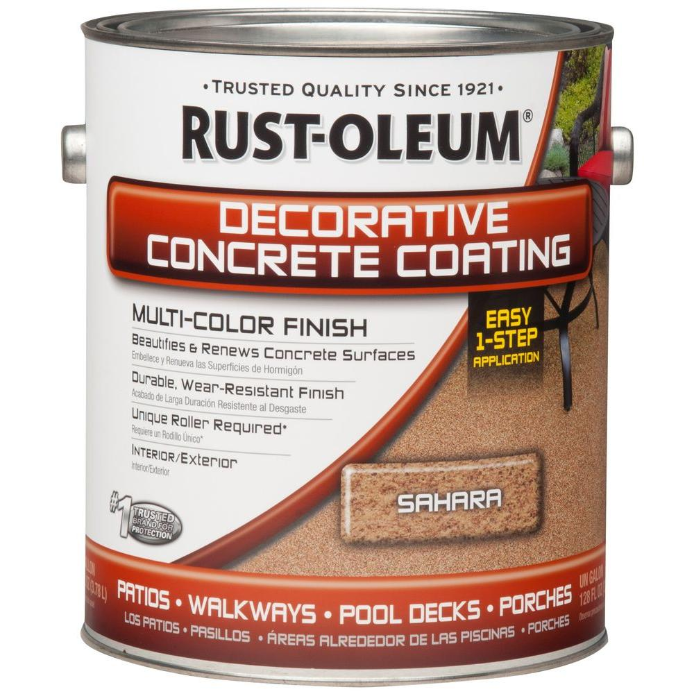 Rust Oleum Concrete Stain 1 Gal Sahara Decorative Concrete Exterior Solid Stain 266551 The