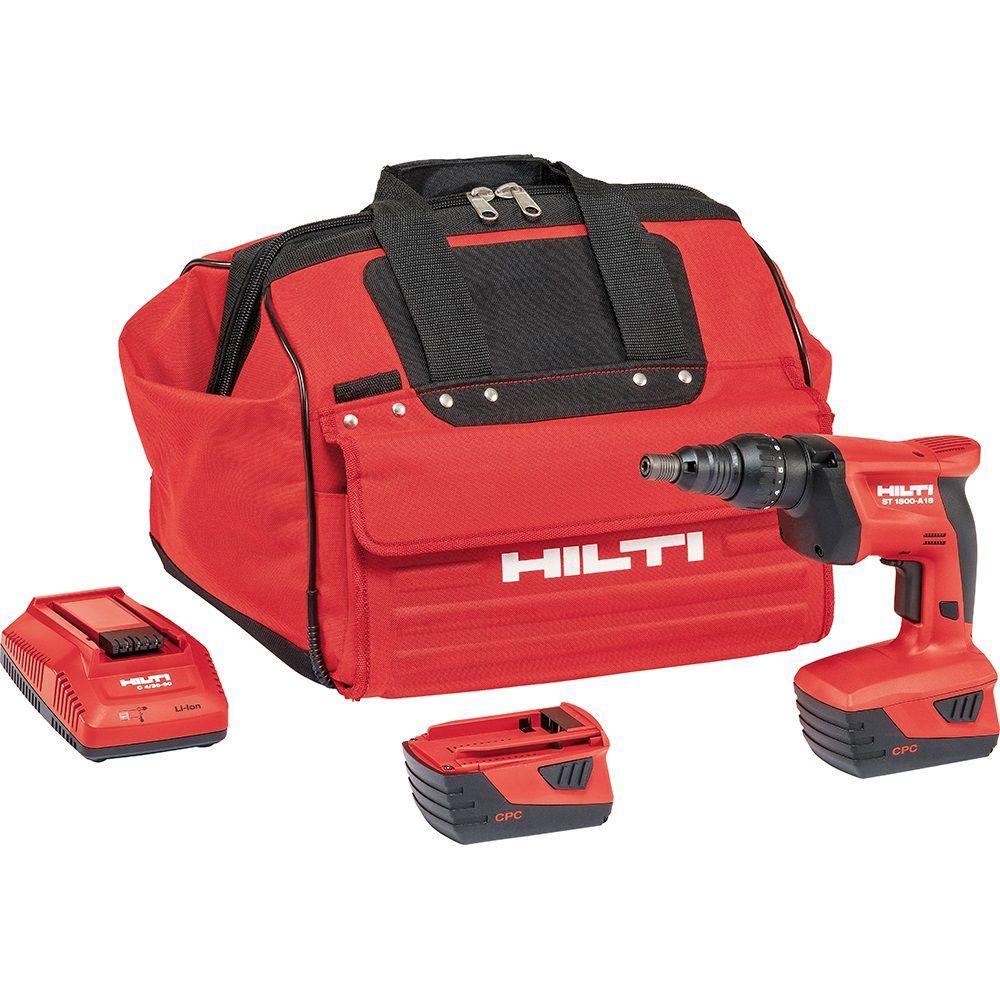 Hilti ST 1800 18-Volt Lithium-Ion 1/4 in. Hex Cordless Adjustable Torque Screwdriver