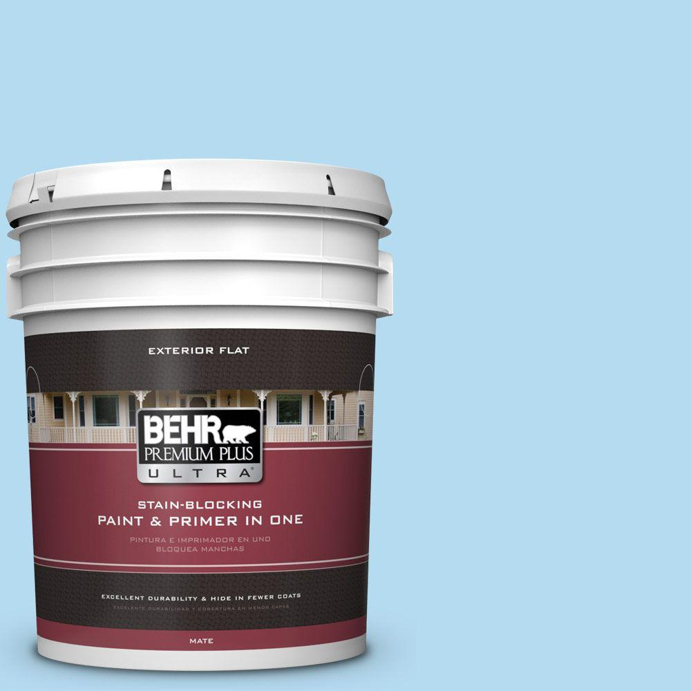 BEHR Premium Plus Ultra 5-gal. #P500-2 Seashore Dreams Flat Exterior Paint