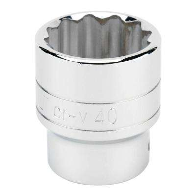 3/4 in. Drive 40 mm 12-Point Standard Socket