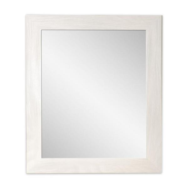 25.5 in. x 48.5 in. Classic Rectangle Framed Gray Accent Mirror