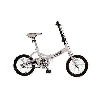 Flex Folding Bicycle, 16 in. Wheels, 11 in. Frame, Unisex in White