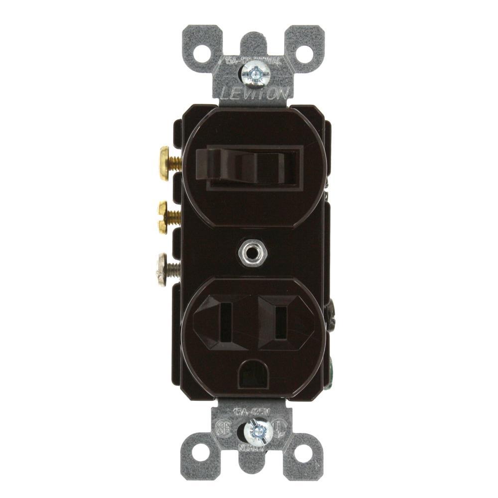 leviton 15 amp commercial grade combination 3 way toggle switch and wiring leviton 5625 leviton 15 amp commercial grade combination 3 way toggle switch and receptacle, brown