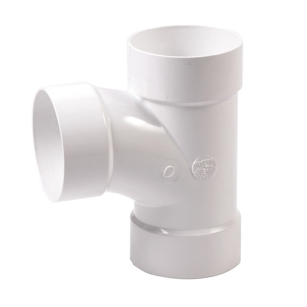 NDS 4 in. PVC Sewer and Drain 3-Way Sanitary Tee