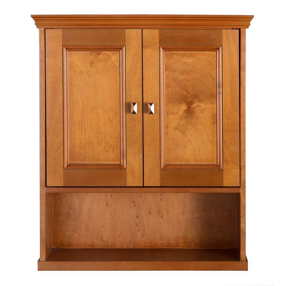 Exhibit 23-3/4 in. W Bathroom Storage Wall Cabinet in Rich Cinnamon