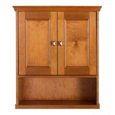 Exhibit 23-3/4 in. W Bathroom Storage Wall Cabinet in Rich Cinnamon