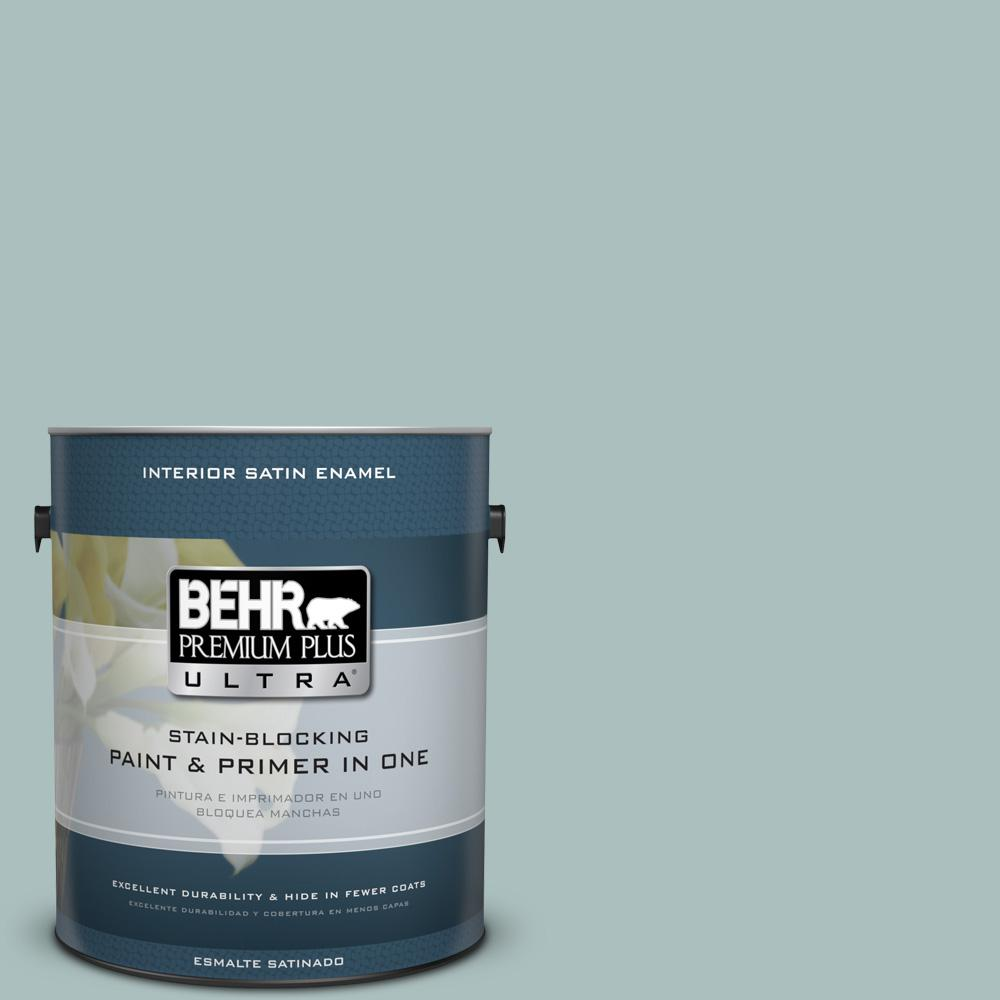 1 gal. #HDC-CL-15G Morning Parlor Satin Enamel Interior Paint