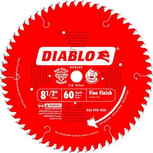 Diablo 7 1 4 In X 60 Tooth Fine Saw Blade D0760r The Home Depot