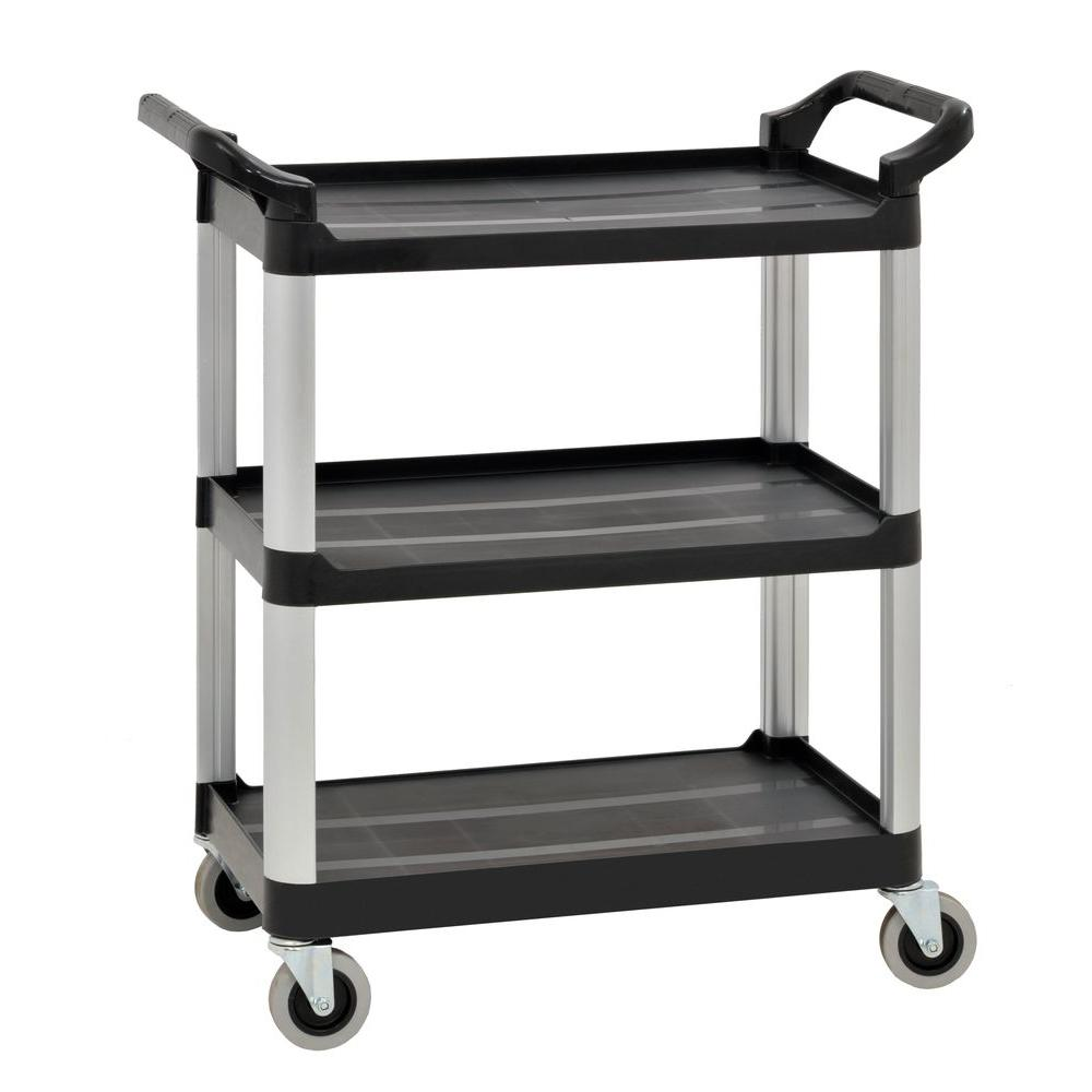 Sandusky 3 Shelf 27 In. X 17 In. Heavy Duty Utility Cart With
