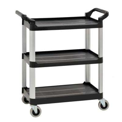 3-Shelf 27 in. x 17 in. Heavy Duty Utility Cart with 4 in. Casters