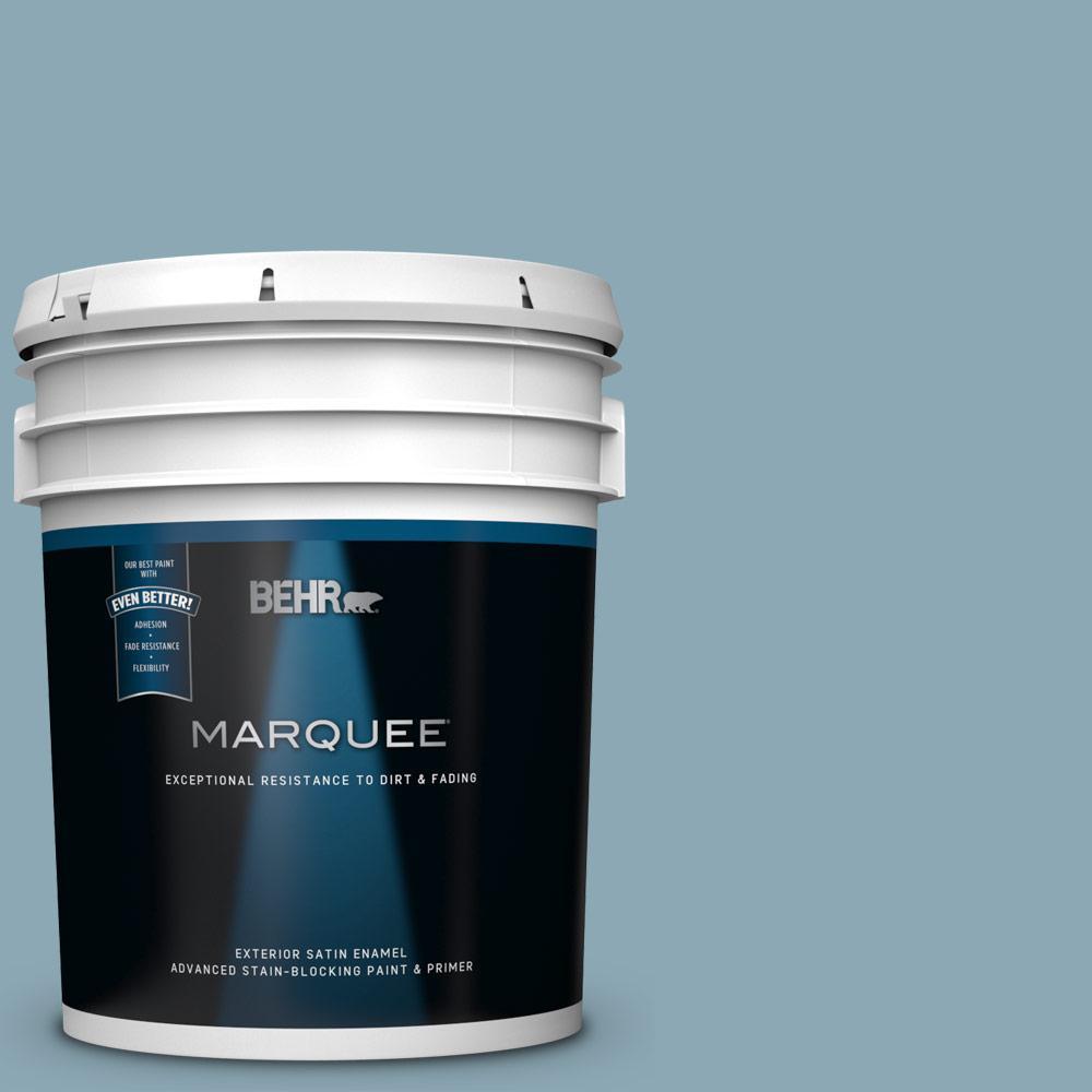 530f 4 Newport Blue Satin Enamel Exterior Paint And