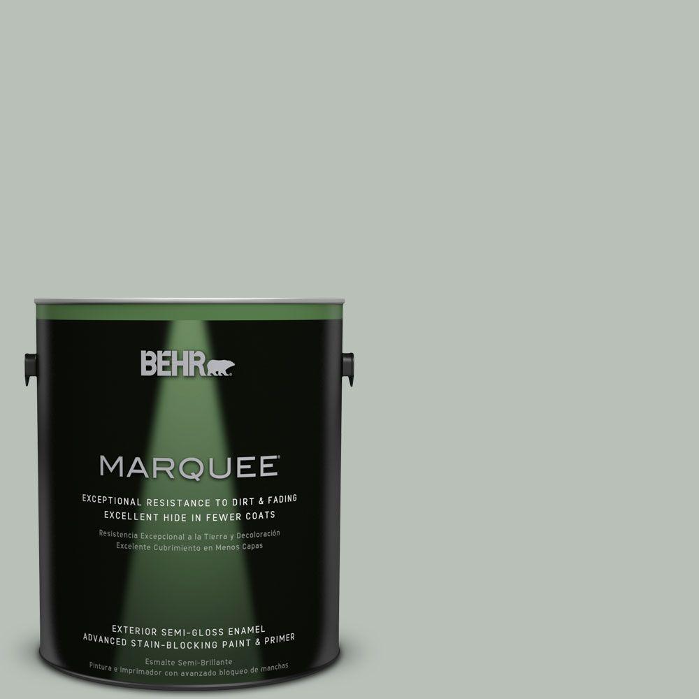 1 gal. #T16-11 Celadon Exterior Semi-Gloss Enamel Paint