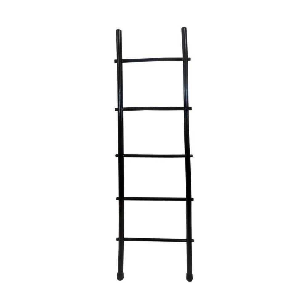 MGP 5 ft. H 5-Bar Ladder Rack in Black Stain Bamboo
