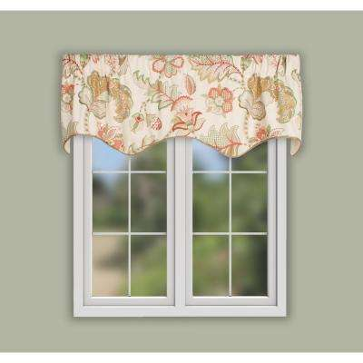 Queens Hamlet 16 in. L Cotton Lined Scallop Valance in Multi