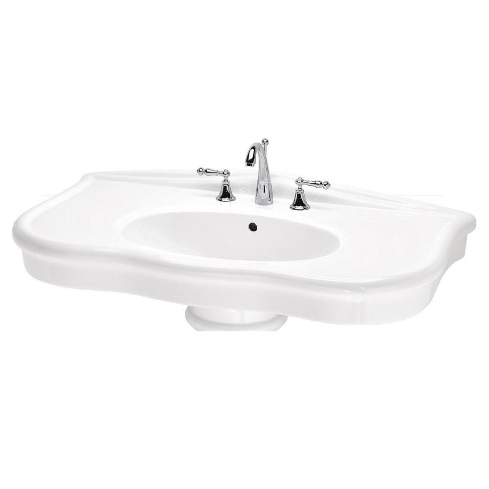 St. Thomas Creations Parisian 7 in. Pedestal Sink Basin in White ...