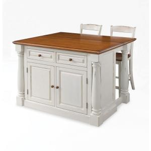 Cheap Kitchen Island With Seating | Monarch White Kitchen Island With Seating