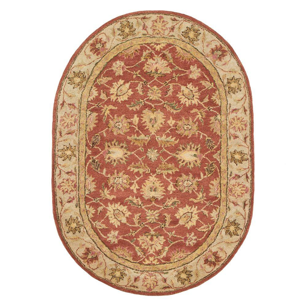 Home Decorators Collection Old London Terra/Ivory 4 ft. 6 in. x 6 ft. 6 in. Oval Area Rug