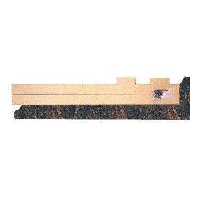 4-5/8 in. x 25-5/8 in. Valencia Kitchen Depth Laminate Endcap Kit in Spicewood Springs