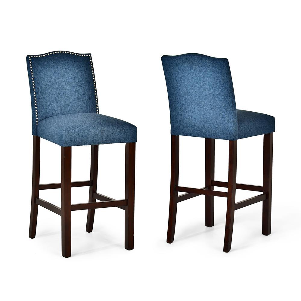 Elden Blue Counter Chair- set of 2