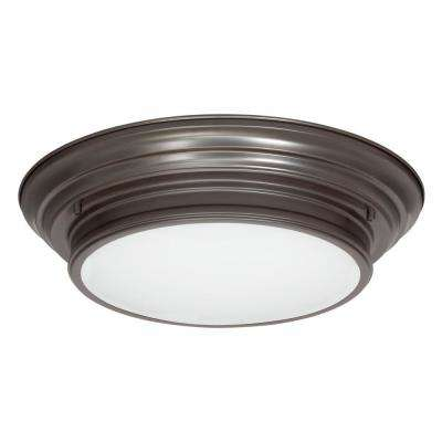 15.25 in. Boundless Collection 17-Watt Antique Bronze Integrated LED Entryway Flush Mount
